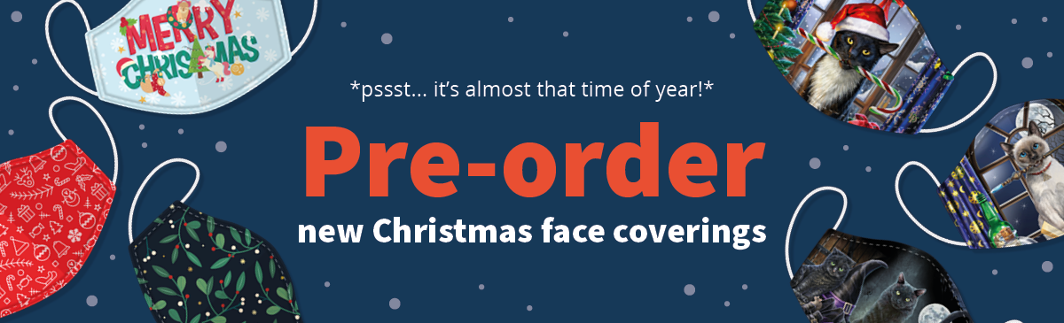 Pre-Order our New Face Coverings