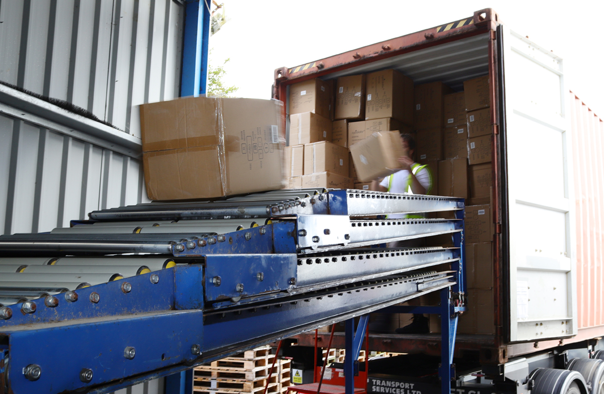 Unloading a Container in Goods In